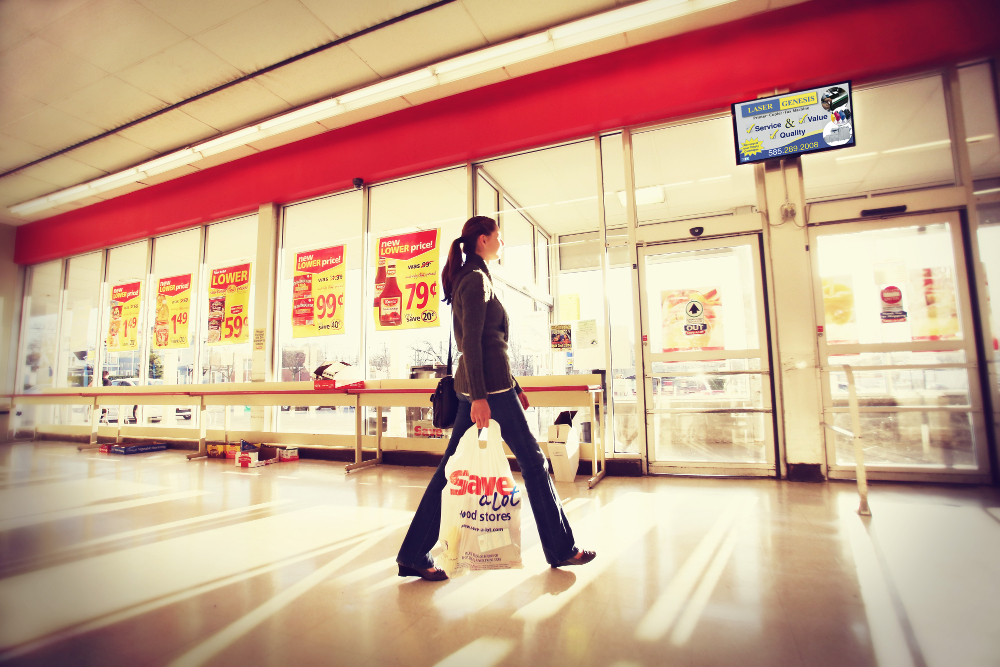 Digital Signage in Grocery and supermarkets