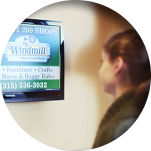 Be seen with bizXposure digital signage!